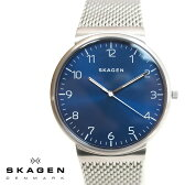 SKAGEN スカーゲン メンズ腕時計 40mm Ancher Heavy Gauge アンカー ブルー×シルバー SKW6164 スカーゲン 腕時計 メンズ