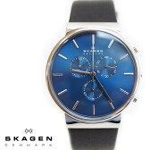 SKAGEN スカーゲン メンズ腕時計 40mm Ancher Heavy Gauge アンカー クロノグラフ ブルー×ブラック SKW6105 スカーゲン 腕時計 メンズ