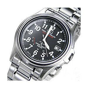 ≪エコマーク認定≫シチズン電波ソーラー腕時計ステンレスケースソーラー電波時計(CITIZENQ&Q腕時計)ブラック/ホワイト
