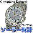 [送料無料]Christiano Domani 腕時計 メンズウォッチ ソーラーパワー アナログ CD-7201-1 メンズ
