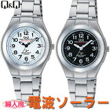 シチズン Q&Q キューアンドキュー シチズン時計 腕時計 婦人用 レディース アナログ SOLARMATE (ソーラーメイト) 電波ソーラー 腕時計 HJ01-204ホワイト/HJ01-205ブラック