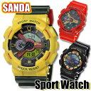 【訳あり】【在庫限り】【送料無料】 腕時計 メンズ腕時計 スポーツウォッチ アナデジ SANDA SS-002 選べる三色