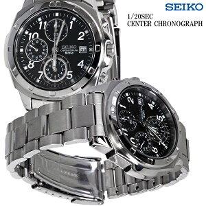 SEIKO/腕時計バックル名入れ彫刻セイコークロノグラフメンズSND195P敬老の日・還暦祝いに