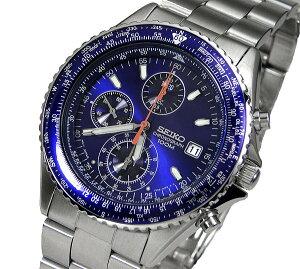 送料無料SEIKOメンズ腕時計パイロットクロノグラフバックル名入れ彫刻(SEIKOSND255PC)