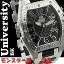 【7月はいつでもポイント5倍!】[送料無料] 腕時計 メンズ ユニバーシティ クオーツ トノー型腕時計 メンズ腕時計 うでどけい US203BK