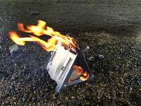 ソロ用焚き火台「野良ストーブ(NoraStove)」簡単組み立て・高火力高効率