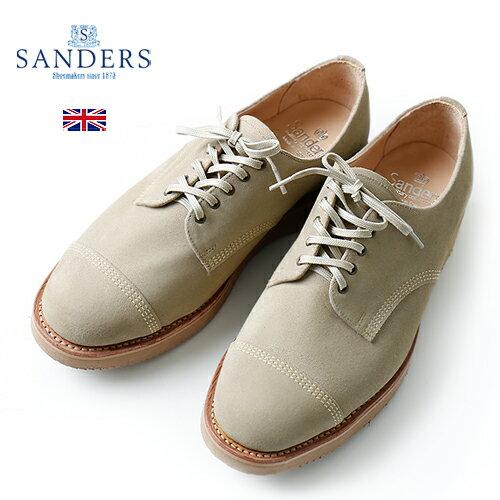 メンズ靴, ビジネスシューズ SANDERS DESERT MILITARY DERBY SHOE Suede 2128LS Sand Stone