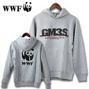 WWFスゥエットパーカー「GM3」グレー/サイズS[メンズ おしゃれ かっこいい 紳士 秋服 秋物 秋 冬服 冬物 冬 大人 彼氏 プレゼント]