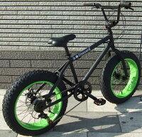 【レビュー11件】【20インチBMX】【前後ディスクブレーキ】FATBIKEファットバイクfivecard-bikeファイブカードビーチクルーザー変速モンスターフットミニ