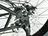 【レビュー5件!!】【ギヤ付き】【今だけ!44,000円!】【前後ディスクブレーキ!!】fivecard-bikeファイブカードビーチクルーザー変速FATBIKEファットバイク26インチモンスターフット