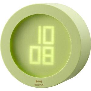 BRUNO ブルーノ 電波時計 目覚まし アラーム ライト インテリア デジタル 時計 置き時計 デザイ...