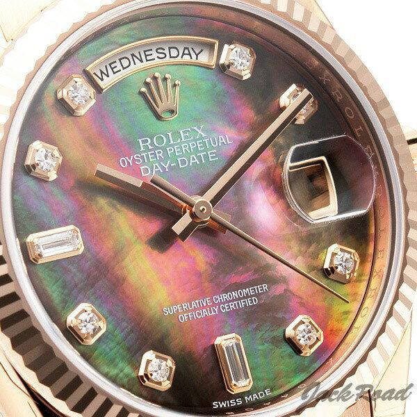 ロレックス ROLEX デイデイト ブラックシェル10P 118235FNG 【新品】 時計 メンズ