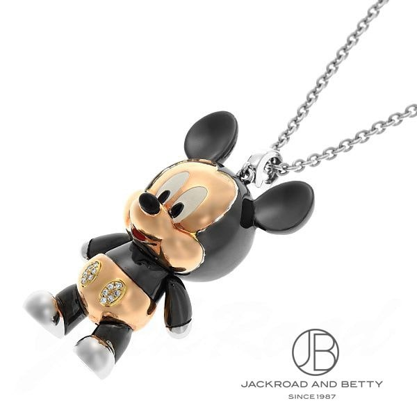 チョウ タイフック ChowTaiFook Disney&Chow Tai Fookコラボレーション ミッキーマウスネックレス D:0.045ct 【新品】 ジュエリー ブランドジュエリー