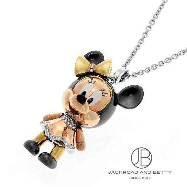 チョウ タイフック ChowTaiFook Disney&Chow Tai Fookコラボレーション ミニーマウスネックレス D:0.29ct/0.15ct 【新品】 ジュエリー ブランドジュエリー