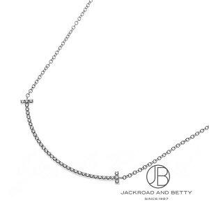 Tiffany & co TIFFANY&Co. T Smile Pendant Necklace (Small) Diamond K18WG 34684448 63058807 New Jewelry Brand Jewelry