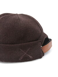 [Rakuten Fashion]【BETON CIRE】MIKI KNIT ADAM ET ROPE' アダムエロペ 帽子/ヘア小物 ニット帽/ビーニー ネイビー ブラウン【送料無料】