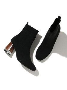 [Rakuten Fashion]【SALE/10%OFF】デザインヒールニットブーツ Juze ビス シューズ ショートブーツ/ブーティー ブラック【RBA_E】【送料無料】