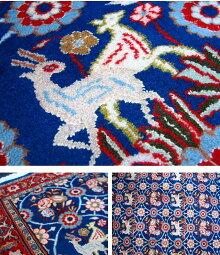 【ペルシャ絨毯・カーペット】★手織りイラン/クム産絨毯★サイズ:185cmx152cm【大特価品】【送料無料】【smtb-k】