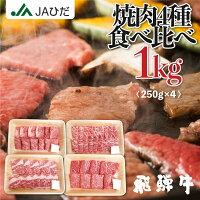 【JAひだ】飛騨牛焼肉セット1kg(250g×4)3〜5人前送料無料※北海道・沖縄別途送料1000円※