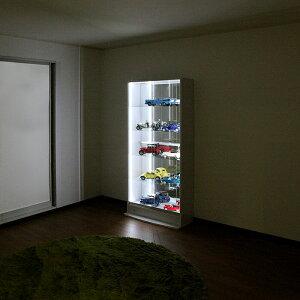 オトクな3点セットJAJANフィギュアラックサードワイド引き戸幅83cm奥行39cm(ハイタイプ本体+ホワイトLED+背面ミラー)コレクションケースコレクションラックコレクションボード