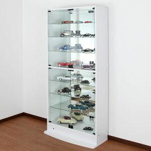 オトクな2点セットJAJANフィギュアラックサードワイド幅83cm奥行39cm(ハイタイプ本体+背面ミラー)コレクションケースコレクションラックコレクションボード