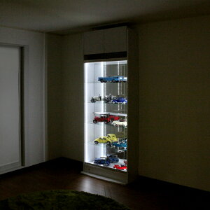オトクな4点セットJAJANフィギュアラックサードワイド引き戸幅83cm奥行39cm(ハイタイプ本体+ホワイトLED+背面ミラー+上置ロー)コレクションケースコレクションラックコレクションボード
