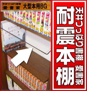 薄型本棚奥行き17センチ天井つっぱり書棚愛書家専用オプション大型本用ブックガード【RCP】【-JAJANSPU-】