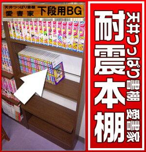 【本棚】書棚奥行き17センチ天井つっぱり書棚愛書家専用下段本体用ブックガード【RCP】【-JAJANSPU-】