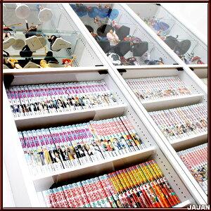 漫画コミック収納ガラス扉付き本棚コミック&ブックディスプレイラック同人誌や貴重本を展示しながら収納出来ますフィギュア展示と漫画収納が楽しめます
