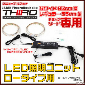 LEDユニットロータイプ用後付けLEDユニットJAJANフィギュアラック用LED照明セット