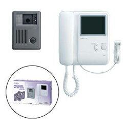 【アイホン】受話器式カラーテレビドアホンあいカラーチルト1-1形(親子セット)[KCS-1AR]