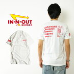 インアンドアウトバーガー 半袖 Tシャツ メニュー ホワイト (メンズ S-XXL In-N-Out Burger ご当地Tシャツ 海外買い付け)