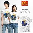 マクドナルド Tシャツ 波乗りドナルド マリブ店限定 ホワイト(メンズ レディース S-XXXL McDonald's 海外買い付け商品)
