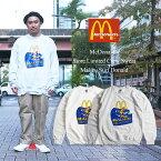 マクドナルド クルー スウェット 波乗りドナルド マリブ店限定 (メンズ レディース S-XXXL McDonald's 海外買い付け商品)