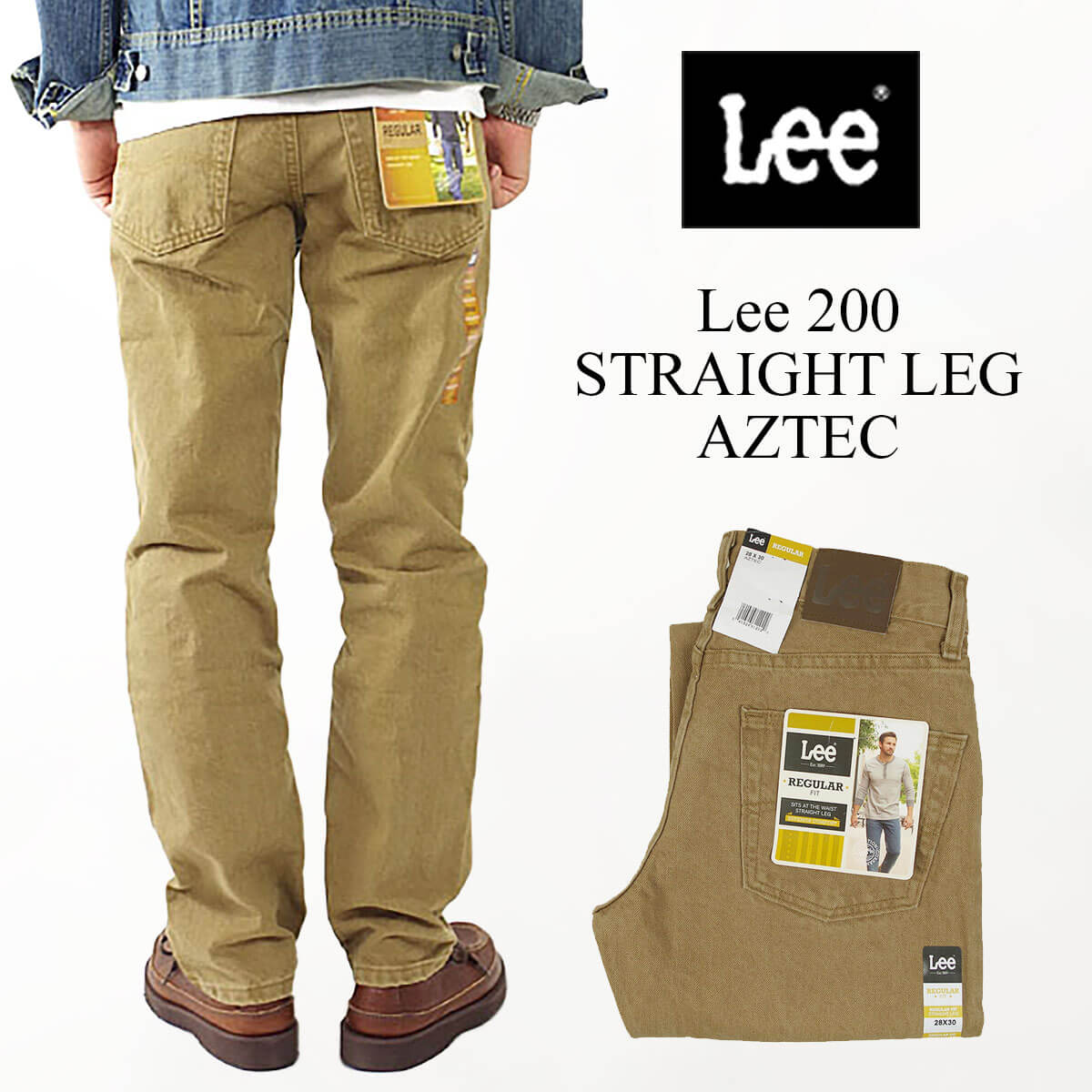 メンズファッション, ズボン・パンツ  Lee 200 (STRAIGHT LEG JEAN AZTEC