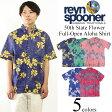 レインスプーナー REYN SPOONER 半袖 フルオープン アロハシャツ 50thステイトフラワー (STATE FLOWER)
