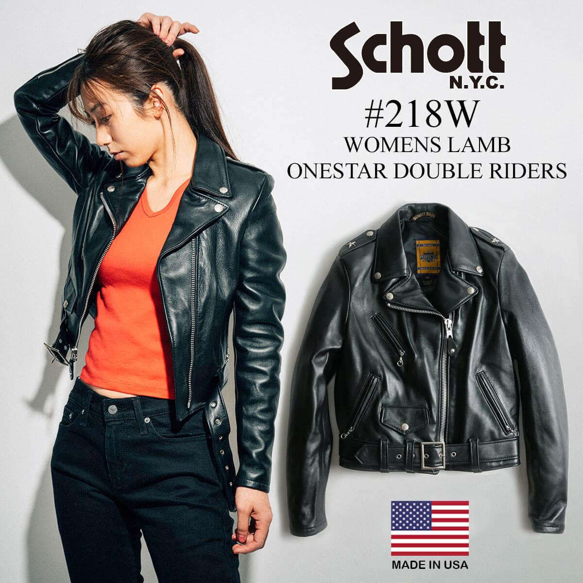 レディースファッション, コート・ジャケット  SCHOTT 218W (