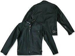 Schott Single Rider Steerhide Leather Motorcycle Jacket 641: Black