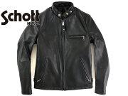 ショット スタンドカラーシングルライダース ブラック ジャケット