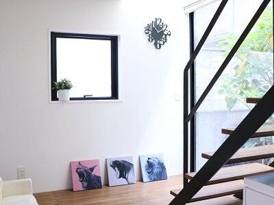 【送料無料】デザイナーズ掛け時計壁掛け時計SquirrelTime北欧おしゃれモノトーンブラックホワイト