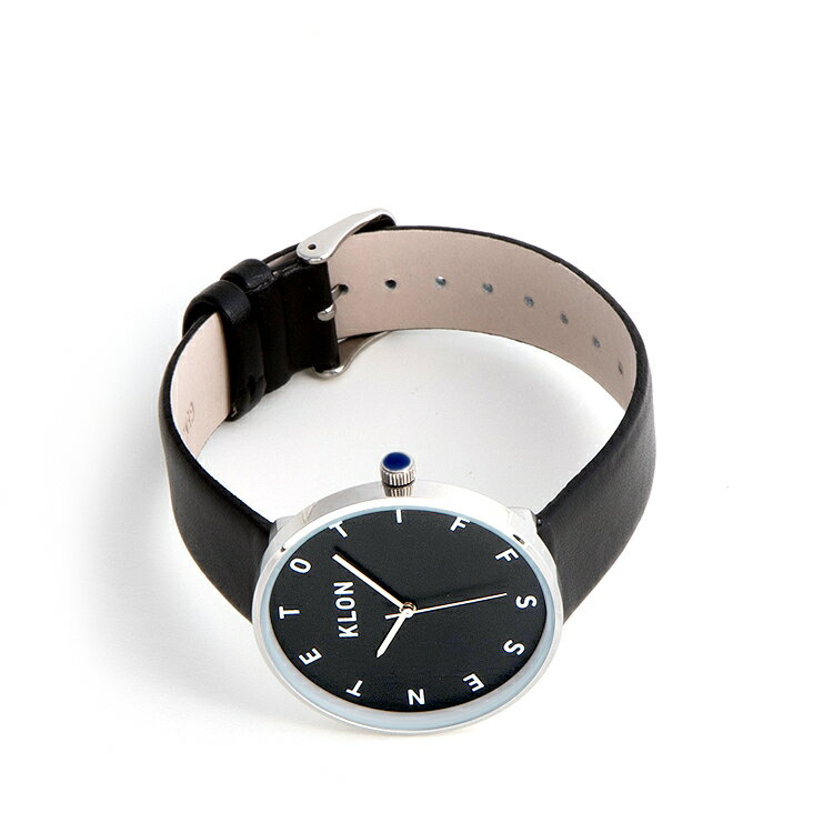 母の日 父の日 『ALPHABET TIME BLACK 【BLACK SURFACE】 40mm』KLON クローン 腕時計  シンプル  おしゃれ 個性的 かわいい ギフト 記念日 誕生日
