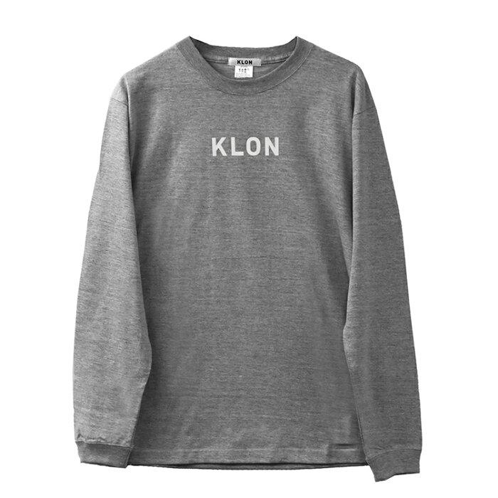 『LONG T GRAY(LOGO:WHITE)』KLON クローン ロンT 長袖 シンプル おしゃれ 個性的 かわいい ギフト 記念日 誕生日 腕時計