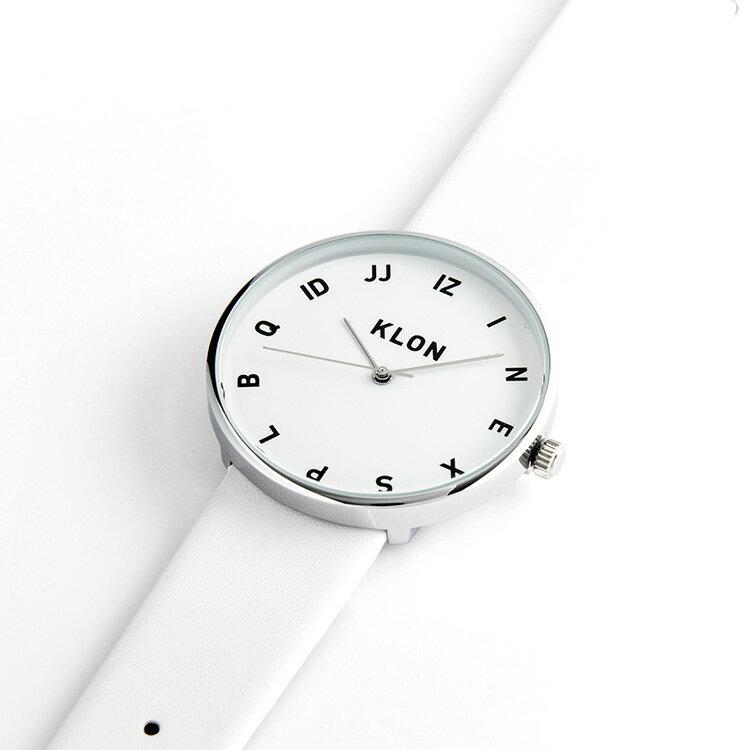 母の日 父の日 『MOCK NUMBER WHITE』KLON クローン 腕時計  シンプル  おしゃれ 個性的 かわいい ギフト 記念日 誕生日