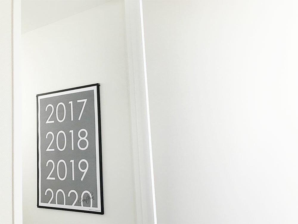 母の日 父の日 【30%オフ&P10倍】『2017 Countdown』ポスター 北欧 お洒落 インテリア 一人暮らし ギフト 新築祝い 引っ越し祝い ※フレーム別売り