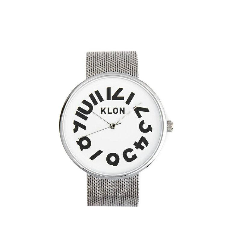 quality design c921c 94d20 KLON 腕時計 時計 雑貨 HIDE TIME ウォール -SILVER 時計 MESH ...