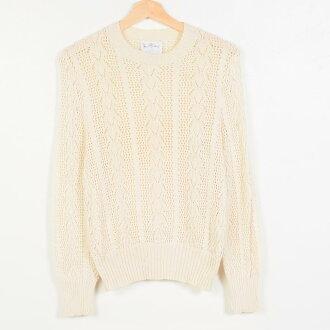 80年代Oord&Taylor JAN STEVENS棉布編織物毛衣女士L復古LORD&TAYLOR/wet0711 160706