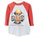80年代 GRATEFUL DEAD グレイトフルデッド スカル 薔薇 ラグラン バンドTシャツ メンズS ヴィンテージ /wes6196 【古着屋JAM】【中古】…