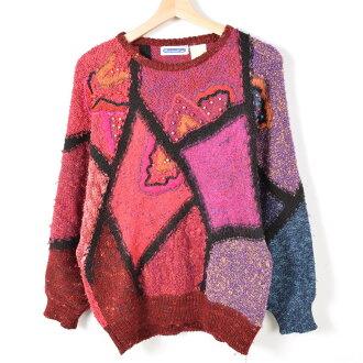 有總花紋毛線刺綉有孔玻璃珠的金色金屬線線編織物毛衣女士L MarieaKim/wey5312