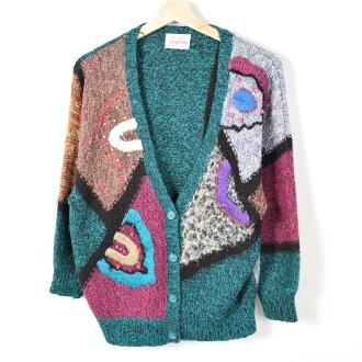 毛線刺綉金色金屬線線總花紋編織物對襟毛衣女士XL/wey5313