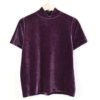 天鵝絨高領短袖針織女士L pierre cardin/wez8029